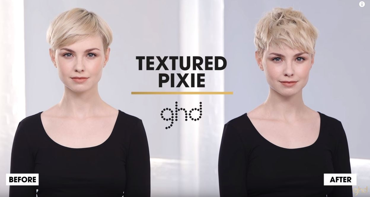 GHD, tectured pixie video
